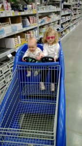Driving mommy's cart