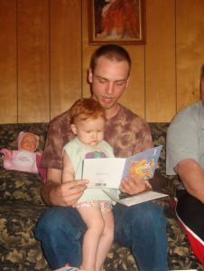 Brother at his daughter's 1st birthday in 2008, passing on the love mom left with us.