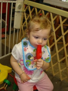 My daughter two years ago with a different cold sweet treat.