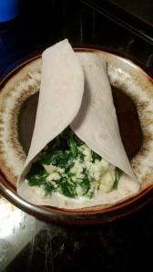 Cheesy Spinach Breakfast Burrito