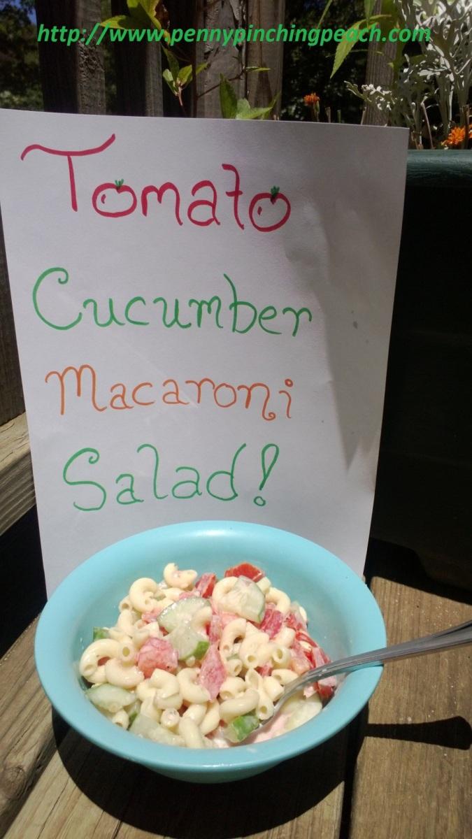 Tomato Cucumber Macaroni Salad