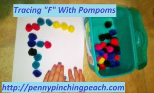 Tracing F With Pompoms