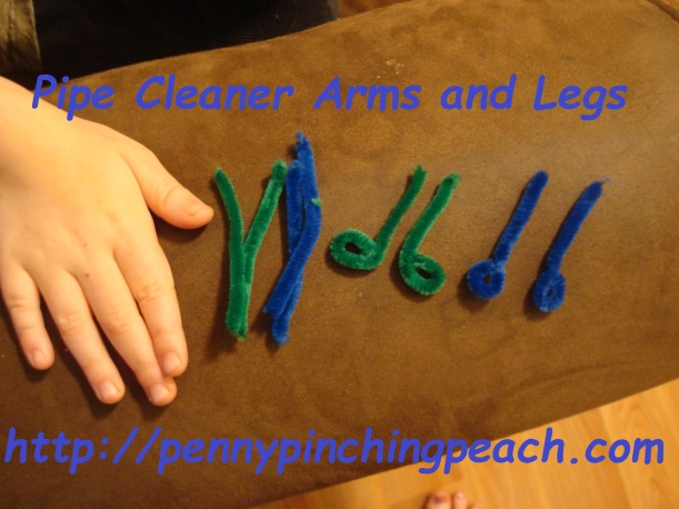 Pipe cleaner arms and legs