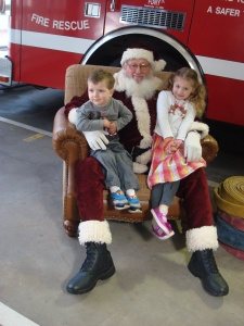 Santa at the fire department