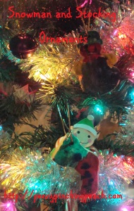 Snowman and Stocking Ornaments