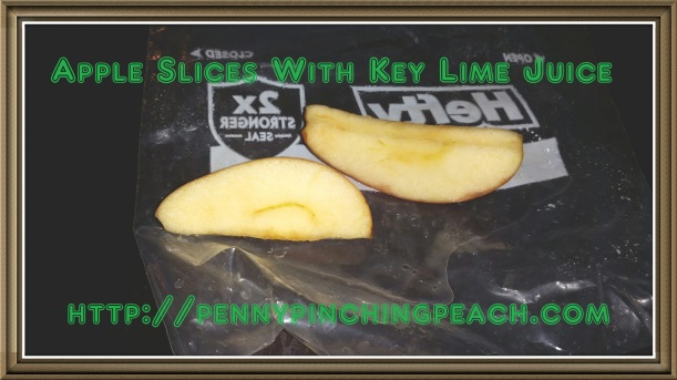 Apple slices with key lime juice