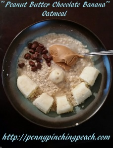 Peanut Butter Chocolate Banana Oatmeal
