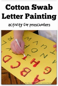 Cotton Swab Letter Painting
