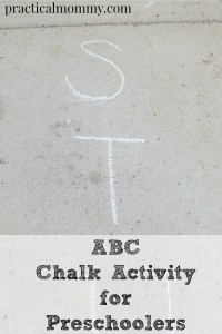 ABC Chalk Activity