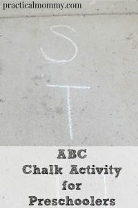 ABC Chalk Activity