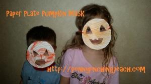 Paper Plate Pumpkin Masks