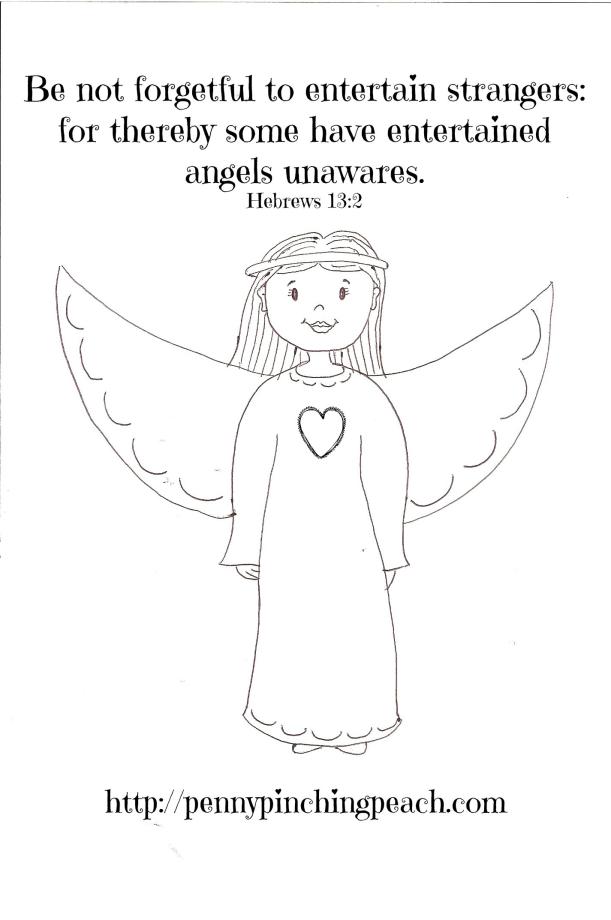 Angel printable 8X10