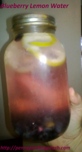 Blueberry Lemon Infused Water