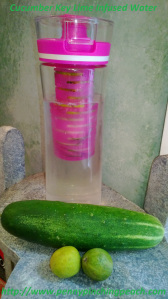 Cucumber Key Lime Infused Water